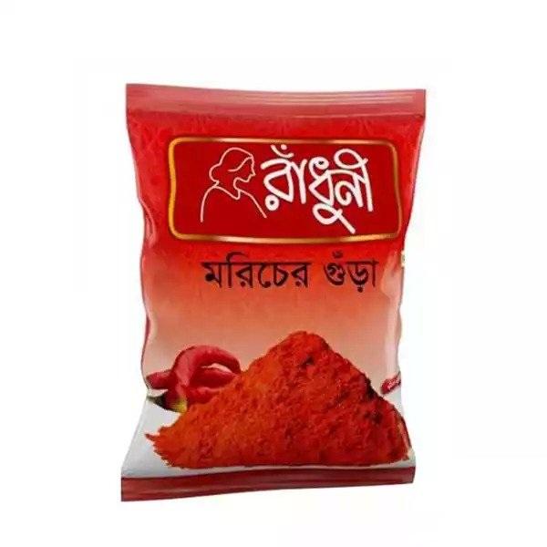Radhuni Chili Morich Powder - 100gm